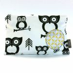 BABY by Danish - Black and White Owls Wipes Bag